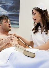 Sexy nurse Korra Del Rio has her hands full with handsome patient Lance Hart. She does her best to reassure him that everything will be just fine but