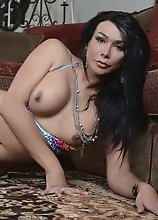 Seductive Vaniity posing her goodies