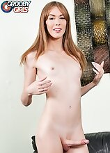 Redhead tgirl Crystal Thayer has a hot slim body, yummy ass and long legs! Watch her posing, stripping and stroking in this hot solo scene!