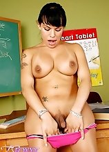 Tempting Tranny Foxxy Stripping In Classroom